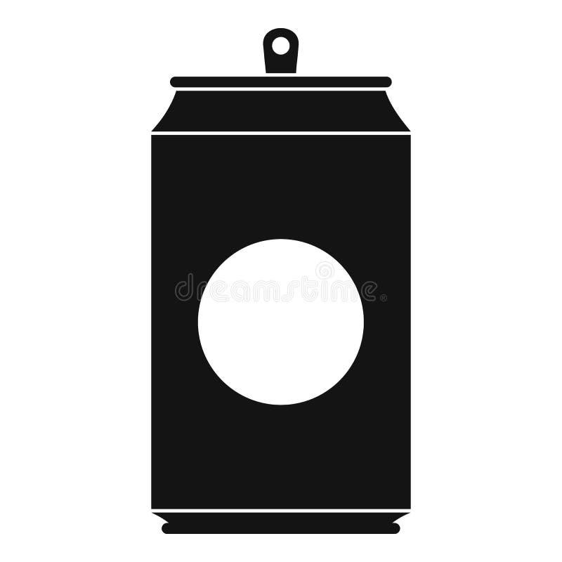Ícone da soda, estilo preto simples ilustração royalty free