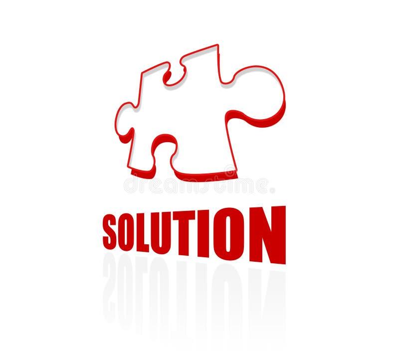 Ícone da solução e do enigma Deixa encontram a solução perfeita Conceito Limpe o projeto ilustração do vetor