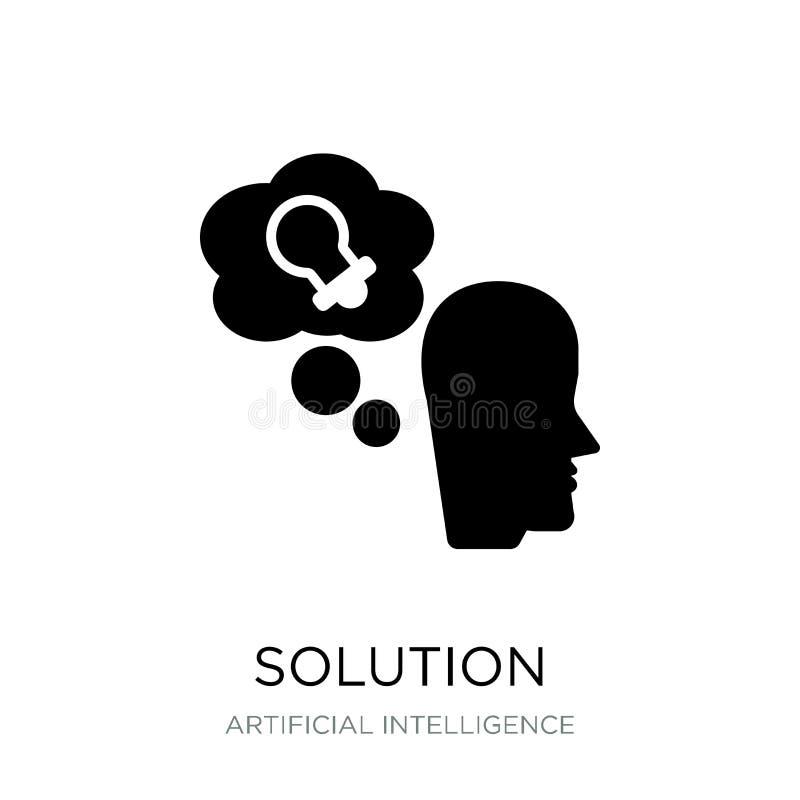 ícone da solução no estilo na moda do projeto Ícone da solução isolado no fundo branco plano simples e moderno do ícone do vetor  ilustração stock