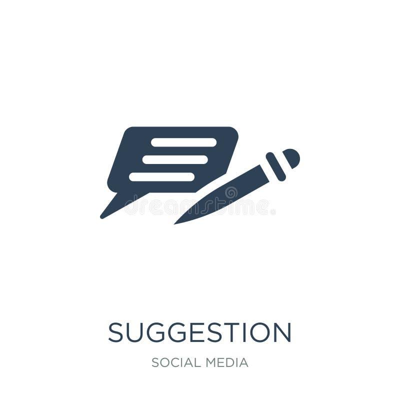 ícone da sugestão no estilo na moda do projeto ícone da sugestão isolado no fundo branco ícone do vetor da sugestão simples e mod ilustração royalty free