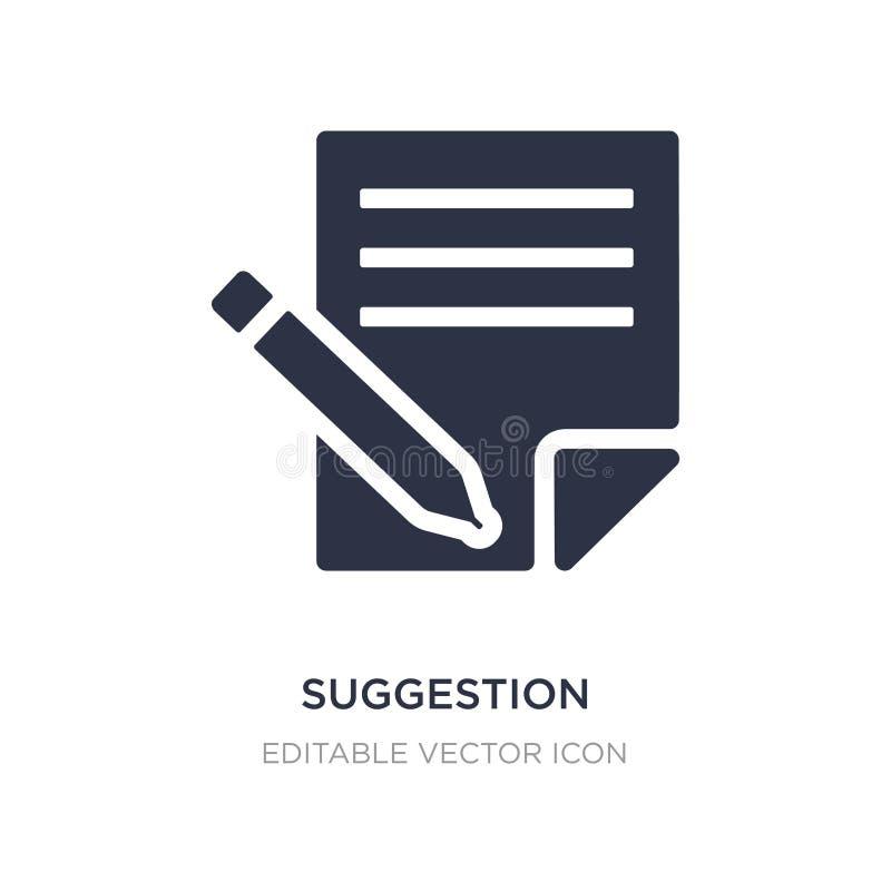 ícone da sugestão no fundo branco Ilustração simples do elemento do conceito de mercado dos meios sociais ilustração royalty free