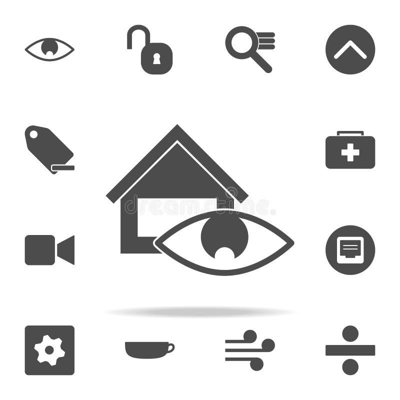 ícone da supervisão da casa grupo universal dos ícones da Web para a Web e o móbil ilustração stock