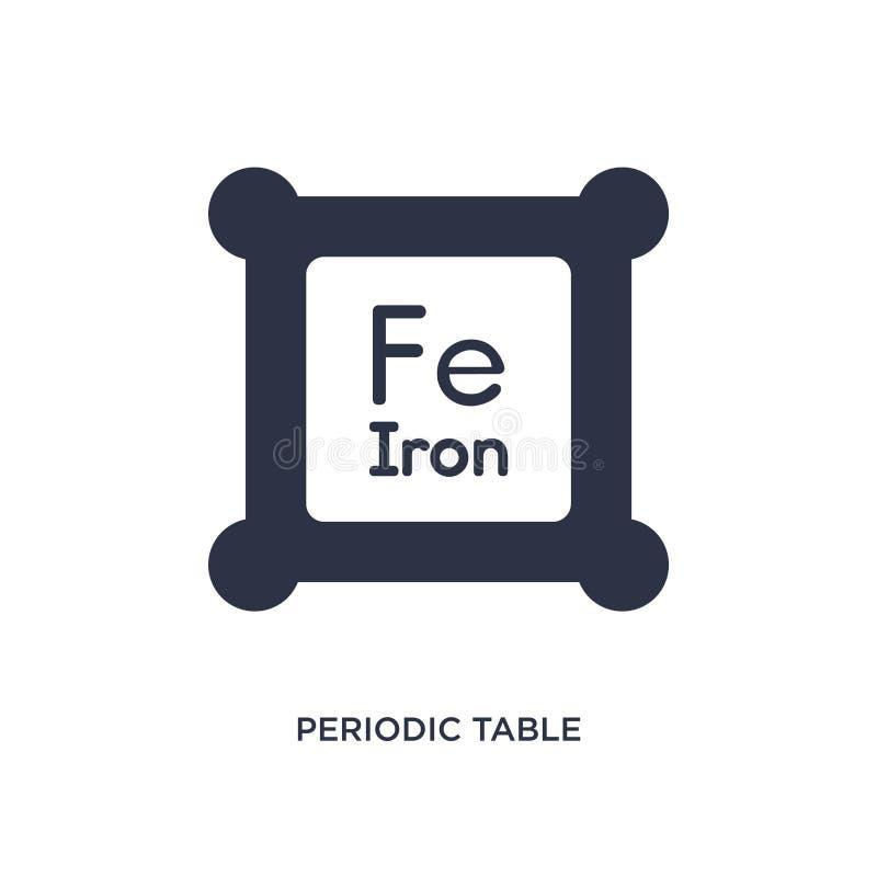 ícone da tabela periódica no fundo branco Ilustração simples do elemento do conceito da educação 2 ilustração do vetor