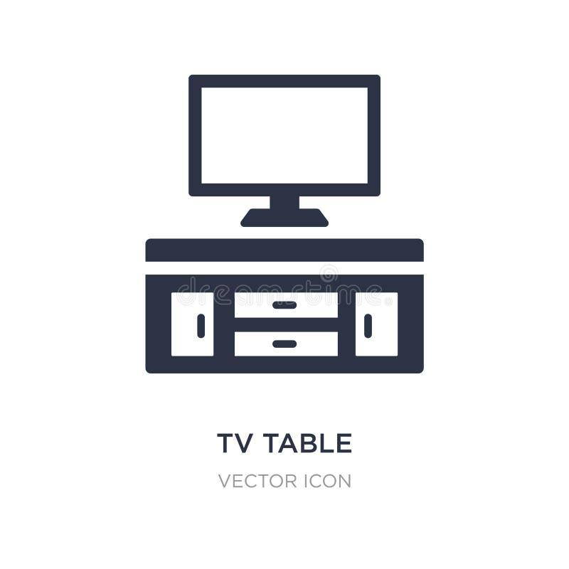 Ícone da tabela da tevê no fundo branco Ilustração simples do elemento do conceito da mobília ilustração do vetor