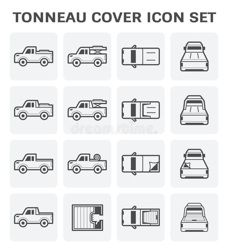 Ícone da tampa do Tonneau ilustração royalty free