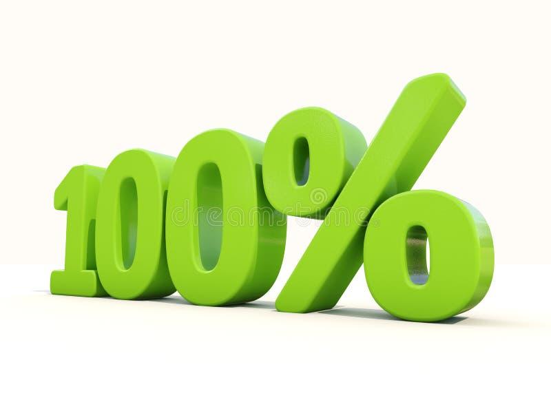 ícone da taxa de porcentagem de 100% em um fundo branco fotografia de stock