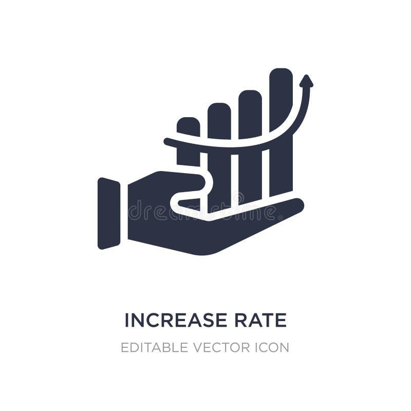 ícone da taxa do aumento no fundo branco Ilustração simples do elemento do conceito do negócio ilustração do vetor