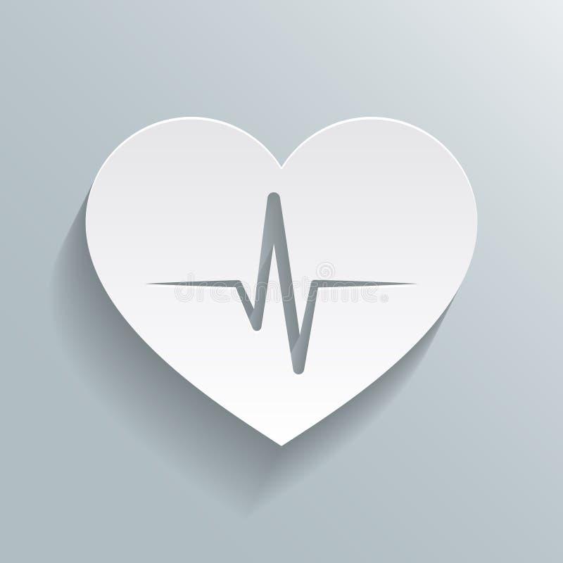 Ícone da taxa do batimento cardíaco ilustração stock