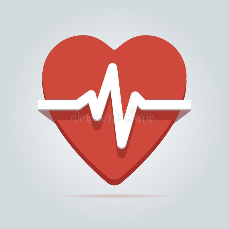 Ícone da taxa do batimento cardíaco. ilustração royalty free