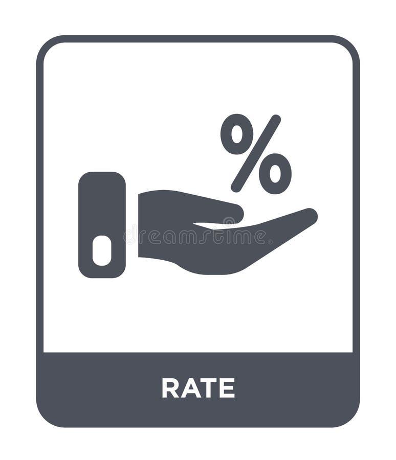 ícone da taxa no estilo na moda do projeto ícone da taxa isolado no fundo branco símbolo liso simples e moderno do ícone do vetor ilustração do vetor