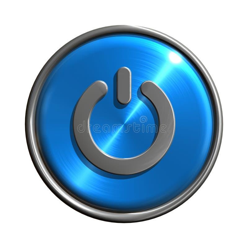 Ícone da tecla da potência ilustração stock