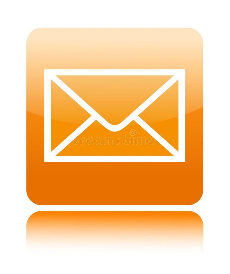 Ícone da tecla do correio foto de stock
