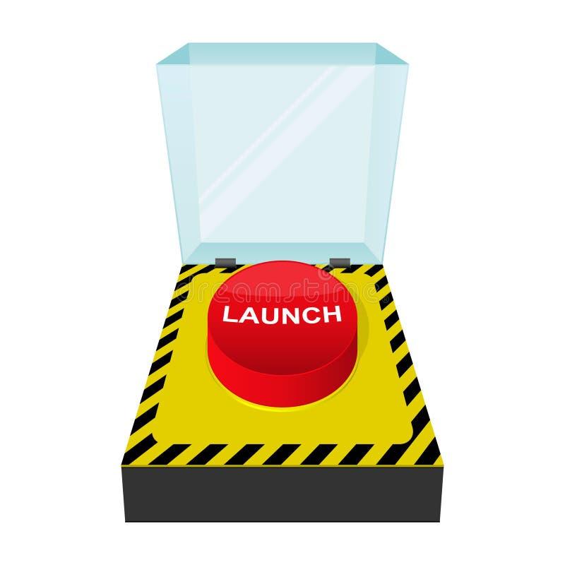 Ícone da tecla do lançamento ilustração stock