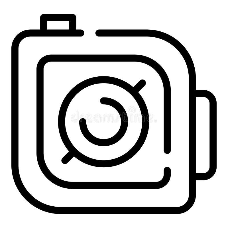 Ícone da tecla 'Iniciar Cópias' da câmera da ação, estilo do esboço ilustração stock