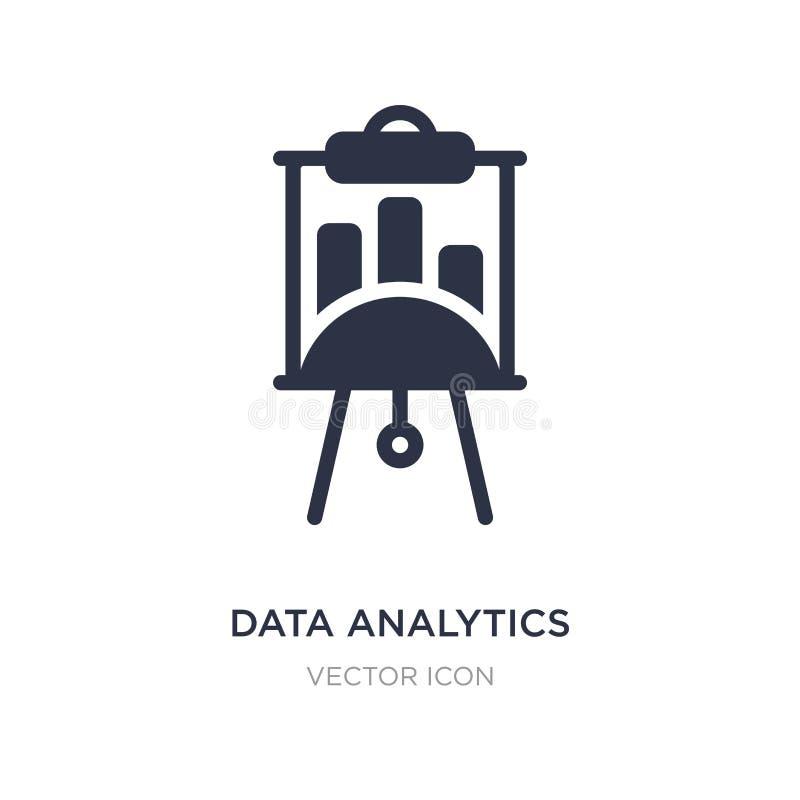 ícone da tela da apresentação da analítica dos dados no fundo branco Ilustração simples do elemento do conceito do negócio ilustração do vetor