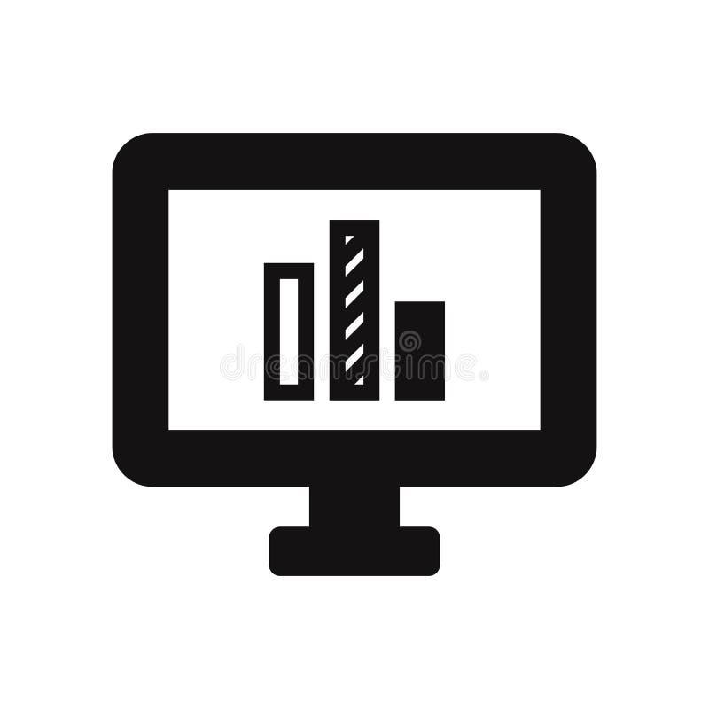 Ícone da tela com linha sinal da carta ilustração do vetor