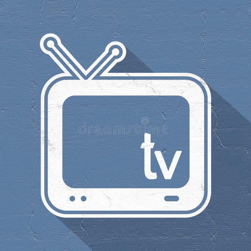 Ícone da televisão ilustração royalty free