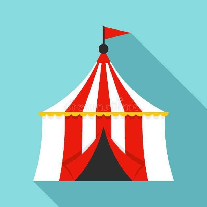 Ícone da tenda do circus, estilo liso ilustração royalty free