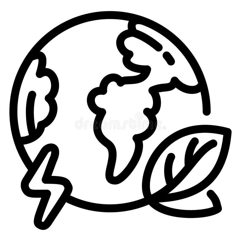 Ícone da terra do globo de Eco, estilo do esboço ilustração royalty free