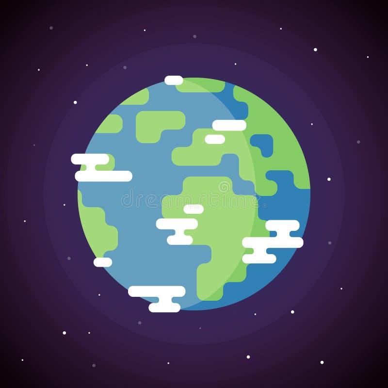 Ícone da terra do planeta ilustração stock