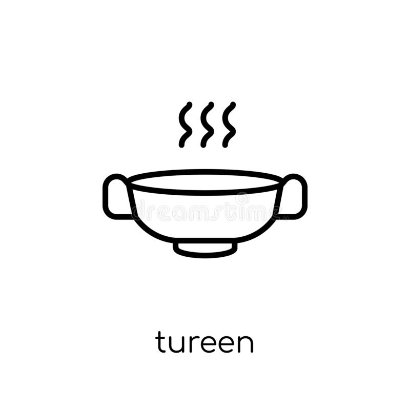 ícone da terrina da coleção da cozinha ilustração stock