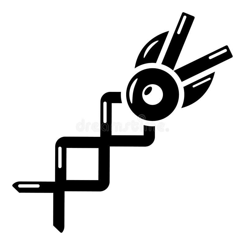 Ícone da tesoura da mola, estilo simples ilustração do vetor