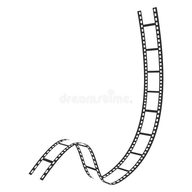 Ícone da tira do filme, foto e quadro da fotografia ilustração do vetor