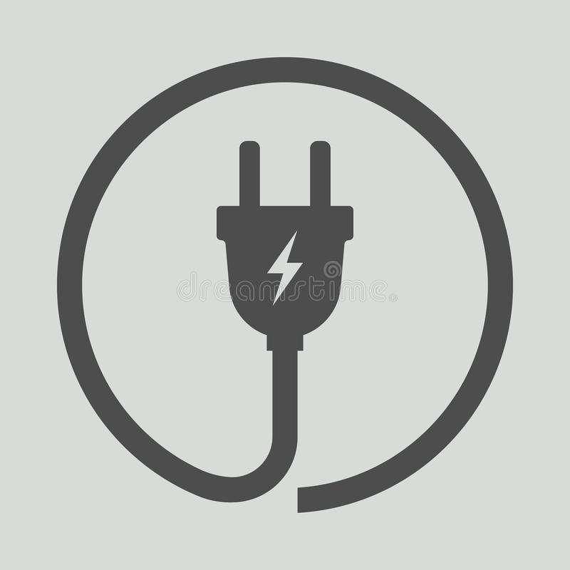 Ícone da tomada elétrica Ilustração do vetor ilustração royalty free