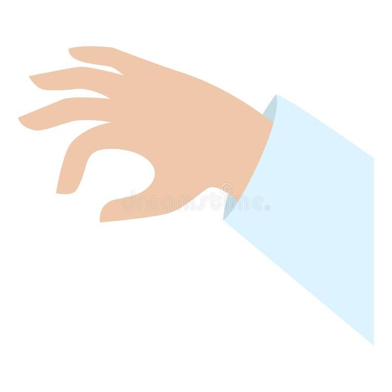 Ícone da tomada da mão, estilo liso ilustração royalty free