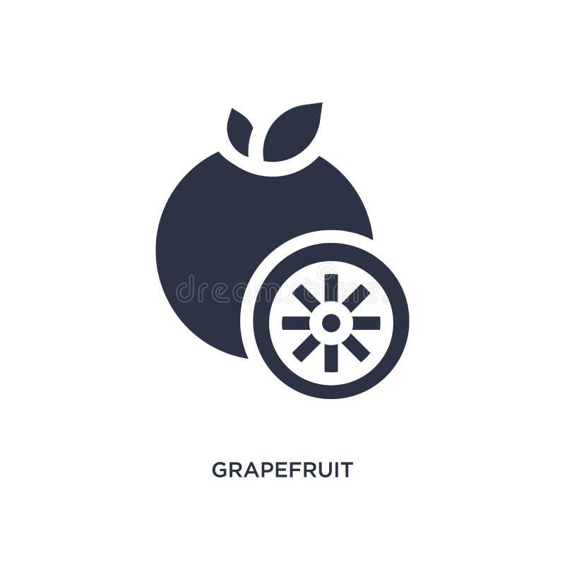 ícone da toranja no fundo branco Ilustração simples do elemento do conceito das frutas e legumes ilustração royalty free