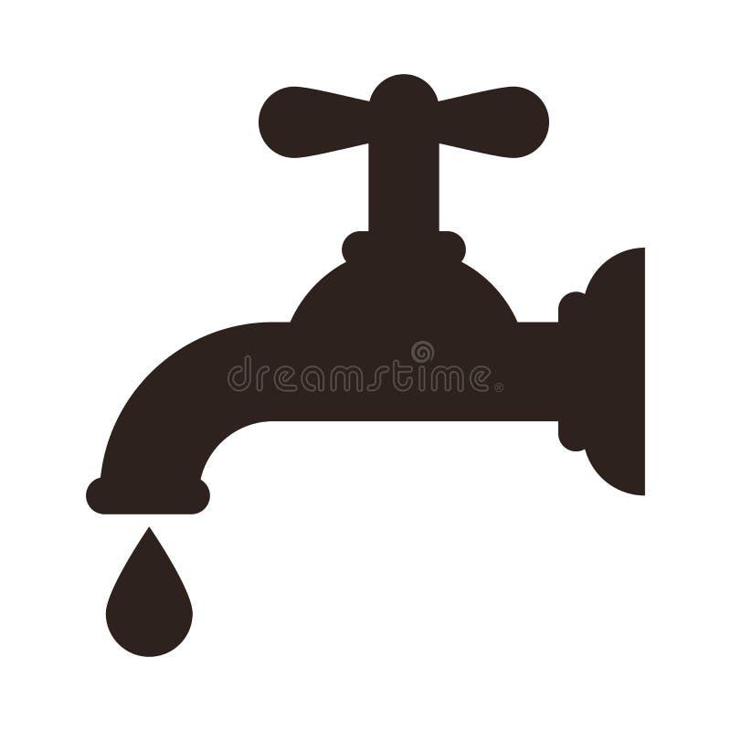 Ícone da torneira de água ilustração do vetor