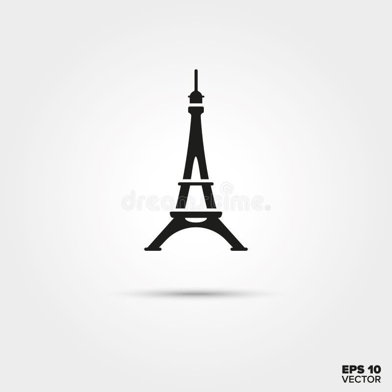 Ícone da torre Eiffel ilustração royalty free