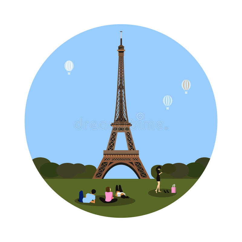 Ícone da torre Eiffel Sinal de Paris ilustração do vetor