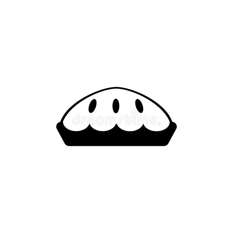 Ícone da torta ilustração royalty free