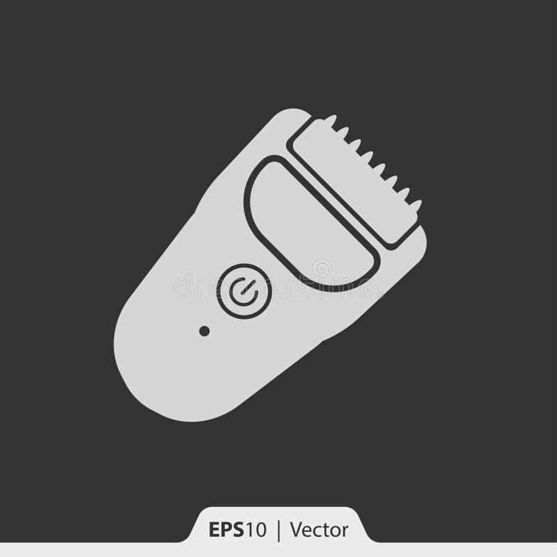 Ícone da tosquiadeira do ajustador do cabelo para a Web e o móbil ilustração stock