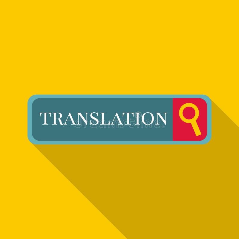 Ícone da tradução do Internet, estilo liso ilustração do vetor