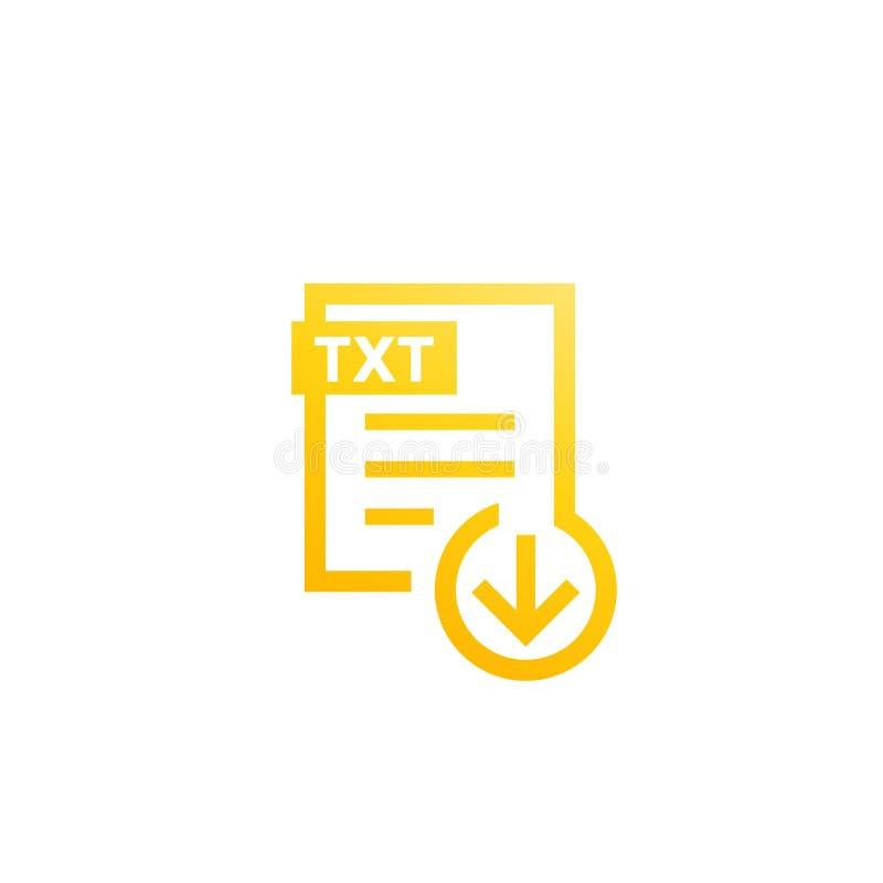 Ícone da transferência do arquivo de TXT ilustração royalty free