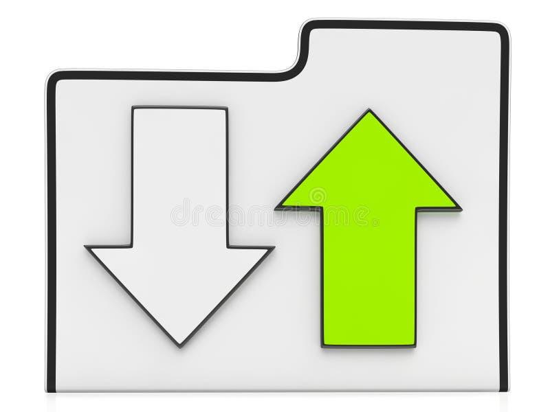 Ícone da transferência e dos dados da transferência de arquivo pela rede ilustração stock