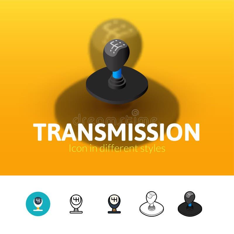 Ícone da transmissão no estilo diferente ilustração do vetor