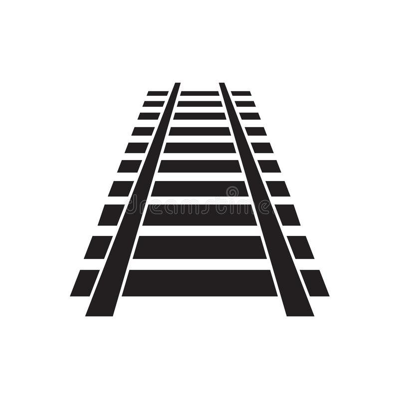 Ícone da trilha Railway ilustração royalty free