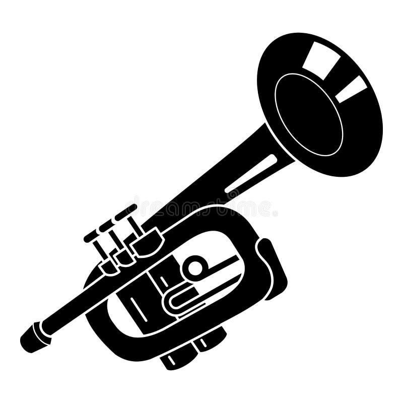 Ícone da trombeta do alarme, estilo simples ilustração royalty free