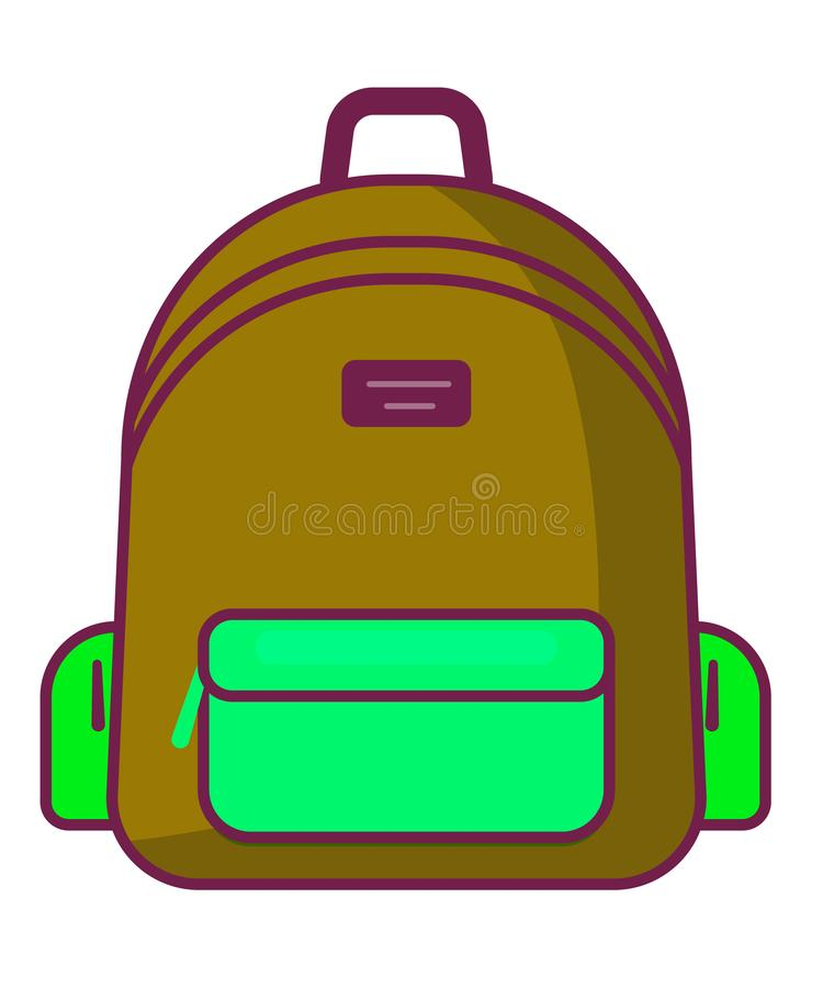 Ícone da trouxa - símbolo da escola do vetor - ícone do curso ilustração royalty free
