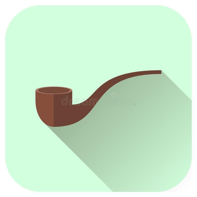 Ícone da tubulação de cigarro do vetor ilustração do vetor