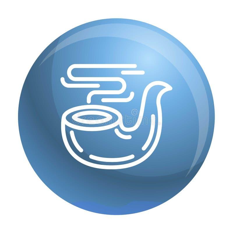 Ícone da tubulação de fumo, estilo do esboço ilustração stock