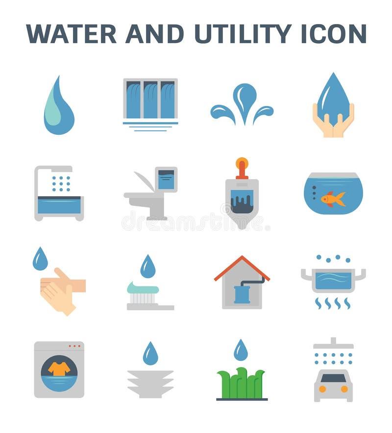 Ícone da utilidade da água ilustração stock