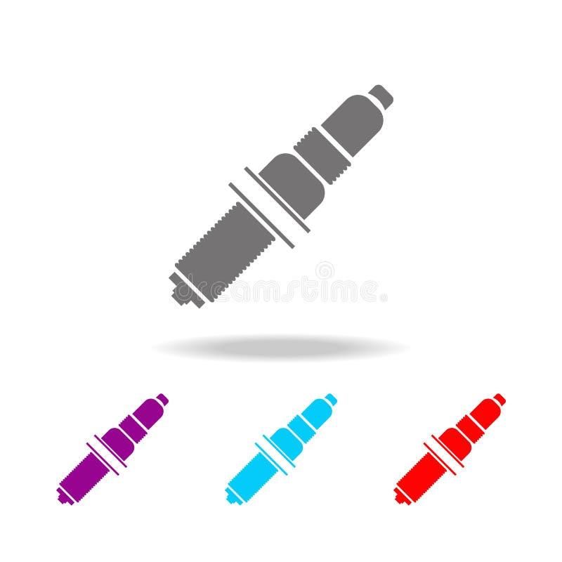 Ícone da vela de ignição Elementos ícones coloridos do reparo do carro de multi Ícone superior do projeto gráfico da qualidade Íc ilustração do vetor