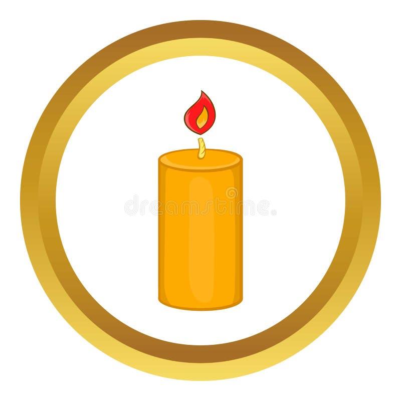 Ícone da vela do Natal ilustração royalty free