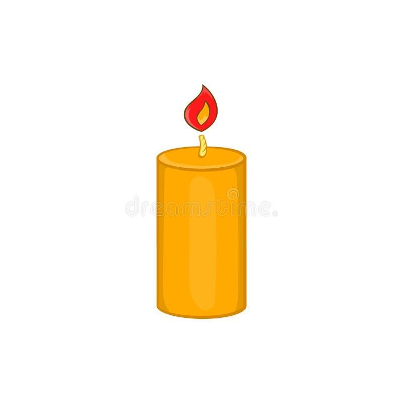 Ícone da vela do Natal, estilo dos desenhos animados ilustração stock