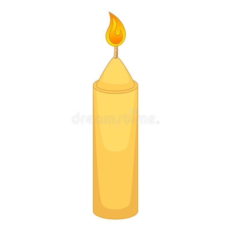 Ícone da vela do Natal, estilo dos desenhos animados ilustração royalty free