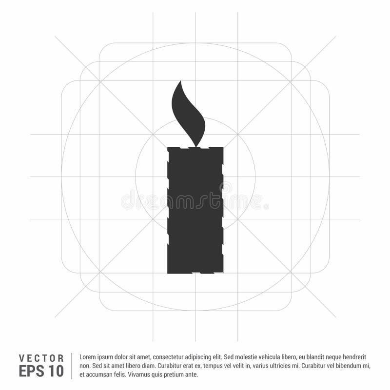 Ícone da vela ilustração stock